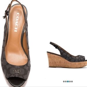 Coach Signature Ferry wedges